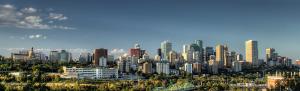Skyline view of Edmonton